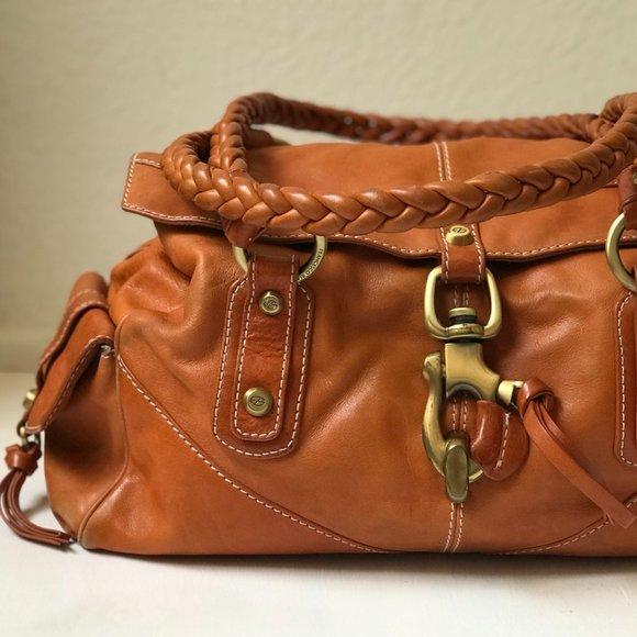 Francesco Biasia Tan 'Secret Love' Leather Handbag